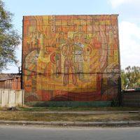 мозаїка на стіні будинку пожежної частини, Запорожье