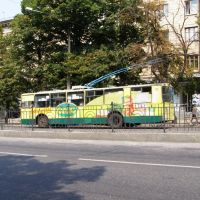 Trolleybus on Lenina Prospekt (Avenue), Запорожье