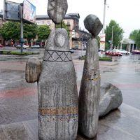 У фонтана на площади Маяковского, Запорожье