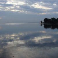 Вид на водохранилище с плотины, Каменка-Днепровская