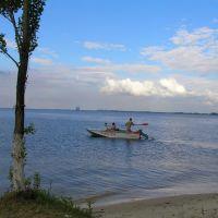Пляж в районе спасательной станции, Каменка-Днепровская