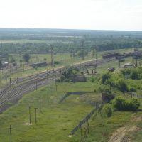 Камыш-Заря Вид с крыши элеватора (camera facing W from exact position), Камыш-Заря