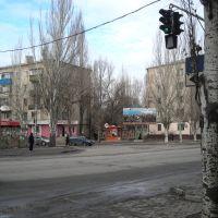 Мелитополь - перекрёсток пр.Б.Хмельницкого и ул.Шмидта, Мелитополь