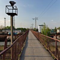 Мост, вокзал Пологи, Пологи