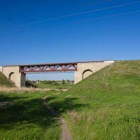 Железнодорожный мост через реку Конка, направление восток, Пологи