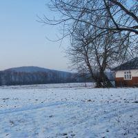 Вид на гору Городище, Болшовцы