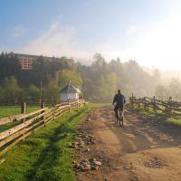 Morning fog in Verkhovyna