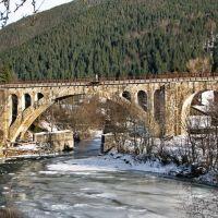 Величний Прут під мостом, Ворохта