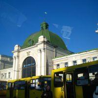 """вокзал і маршрутки у """"Франику"""" .., Ивано-Франковск"""