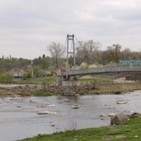 """Богуслав, река Рось, """"Мост любви"""", Богуслав"""