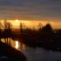 Вечер на речке Здвиж /  Evening on the river Zdvizh, Бородянка