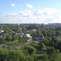 Бровары вид с окна на посёлок, Бровары