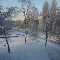 rue. Lagunova Marie, la ville de Brovary. Deux. hiver, Бровары