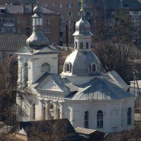 Васильков. Николавская церковь. 1792г. Вид со Змиевых валов, Васильков
