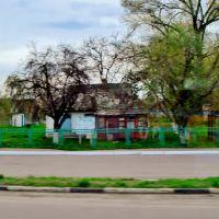 23.04.2012 16:41 Одесское шоссе. Улица параллельная шоссе в п.г.т.Гребенки., Гребенки