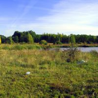 Участок возле озера под строительство дома, Козин