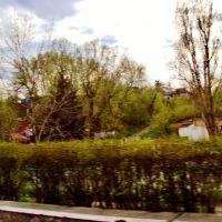 23.04.2012 17:24  Дорога Р04.  Выезд с моста через реку Котлуй., Тараща