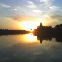 Dobra river in the evening, Добровеличковка