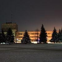 Зимний вечер, площадь, Знаменка
