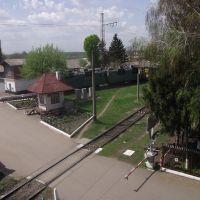 Железнодорожный переезд возле локомотивного депо, Знаменка