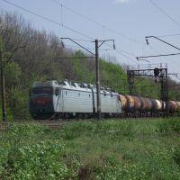 грузовой на перегоне п.п.Западный - ст.Чернолесская, Знаменка-Вторая