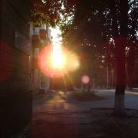 проспект Комуністичний, захід сонця / Communist boulevard, sunset, Кировоград