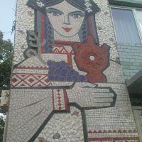 "Ukraine, the city Novoukrainka, Kirovohrad region, Lenin Street, the restaurant ""Ukrainochka"", Новоукраинка"