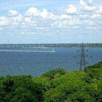 Вид с города на водохранилище, Светловодск