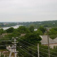 Речка Синица, пешеходный мостик, слева бывший сахарный завод, впереди - бывшее заводоуправление царских времен, Ульяновка