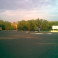 Площадь порбеды рано утром, Ульяновка