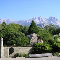 Ай-Петри с Воронцовского дворца / View of the Ai-Petri mountain from Vorontsov Palace, Алупка