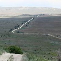 Панорама + зум. Вид на бабчинскую балку с окраины Багерово, Багерово