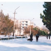 центральная улица зимой 2006, Белогорск