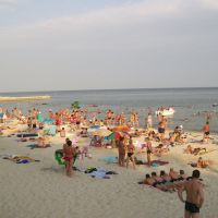 На пляже, Гурзуф