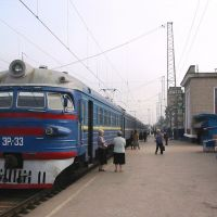 Train ready to depart from Dzhankoi, Джанкой