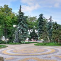 Square on Volodya Dubinin street / Kerch, Russia, Керчь
