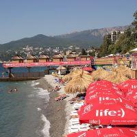 Платный пляж, Массандра