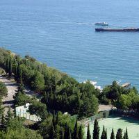 Вид из окна гостиницы Ялта - Kind from a window of hotel Yalta, Массандра