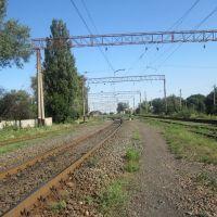 Вид на станцию Антрацит, Антрацит