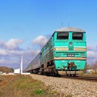 Тепловоз 2ТЭ116-584 с поездом Москва - Луганск, перегон Белокуракино - Старобельск, Белокуракино