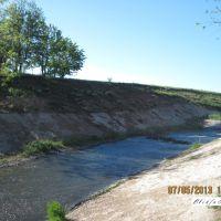 Сброс воды возле Капитальной шахты., Бирюково