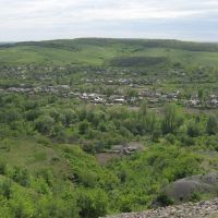 Вид с террикона на Бугаёвку, Бугаевка