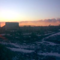 Вид на трубу ПШСУ с пятовского террикона, Бугаевка