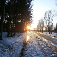 пейзаж,закат солнца,дорога на кв.Молодежный, Ворошиловград