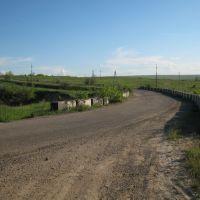 Мост через железную дорогу. A bridje over a rail way., Врубовский