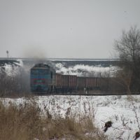 2ТЭ116-1569 идет на Луганск., Георгиевка