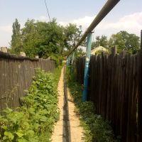 Улочка вдоль газопровода. Thin street along gas, Зоринск