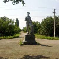 Памятник шахтёру 1950-е годы. Miner monument 1950-th, Зоринск