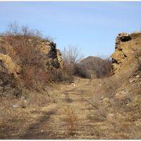 Бывший ж/д проезд - Former railway passage, Изварино