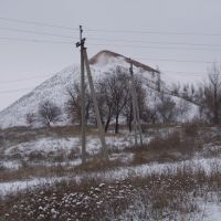 Терриконы заброшенной шахты, Кировск